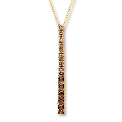 14K Honey Gold™ Pendant with Ombre Diamonds 5/8 cts. | DEKI 554YG